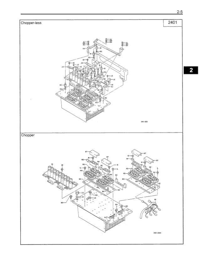 toyota 7fbcu55 forklift service repair manual Forklift Parts Diagram traveling controller 35 55 model 2401