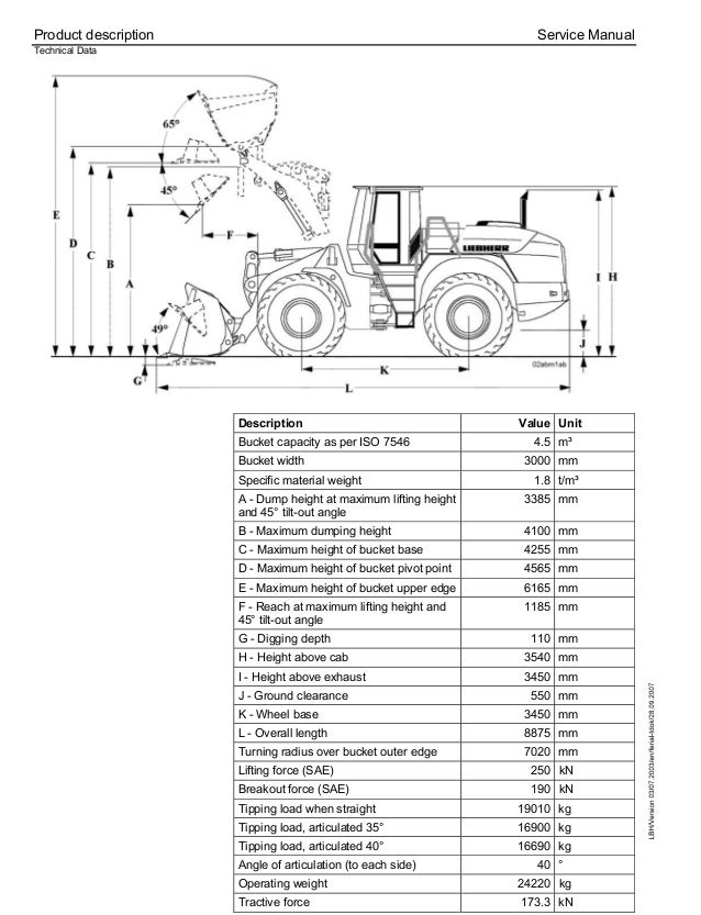 Liebherr L544-443 Wheel Loader Service Repair Manual SN:7477