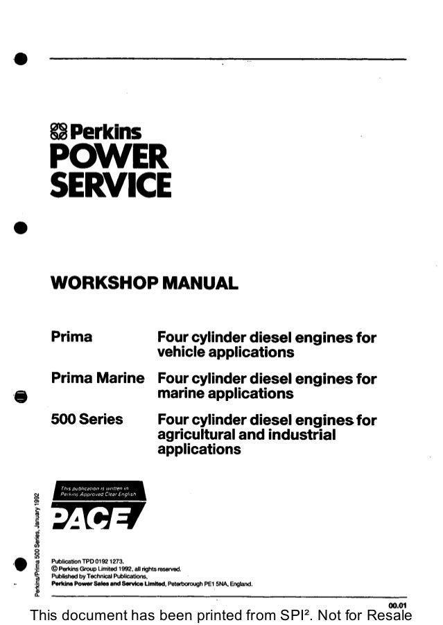 perkins 500 series prima and prima marine four cylinder diesel engin rh slideshare net Marine Boat Manuals Marine Boat Manuals