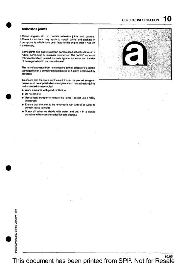 Perkins 500 series engine manual