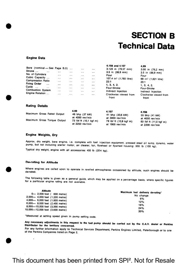 PERKINS DIESEL ENGINE Service Repair Manual