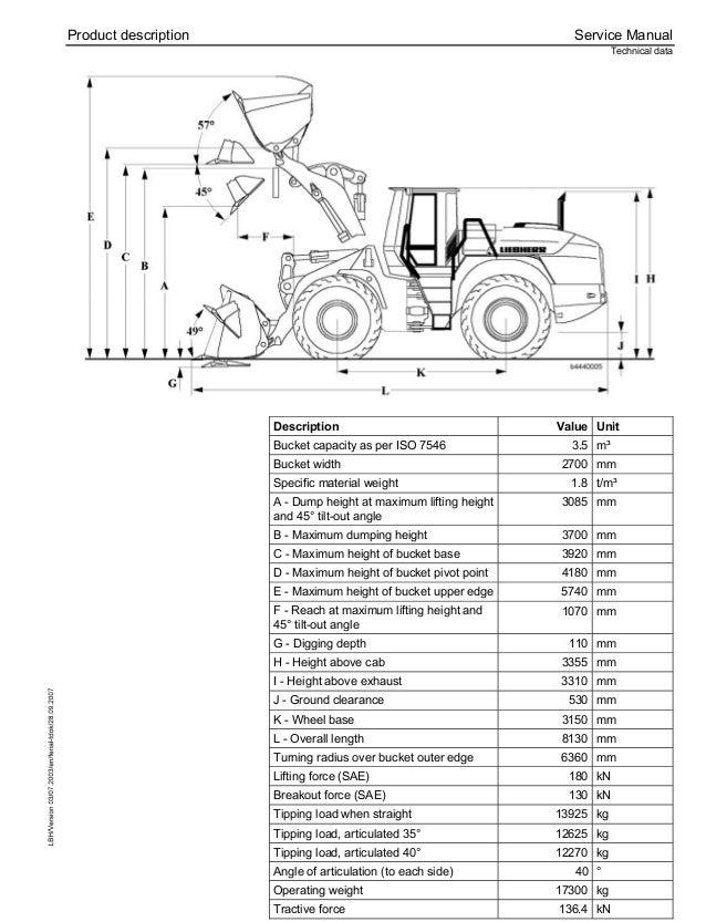 Liebherr L544-443 Wheel Loader Service Repair Manual SN:7477