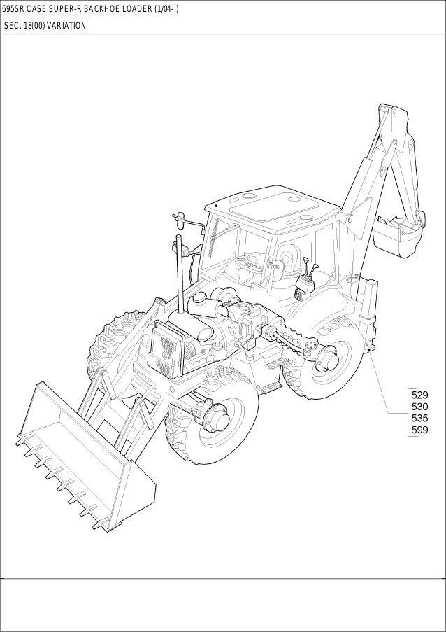CASE 695SR Backhoe Loader Service Repair Manual