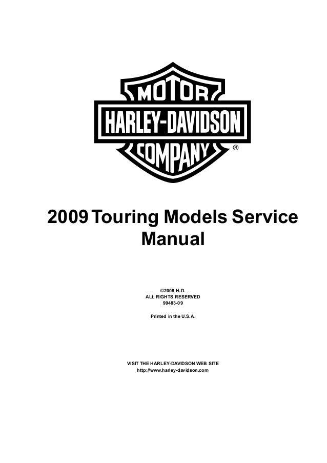 2009 Harley-Davidson FLHR Road King (Touring) Service
