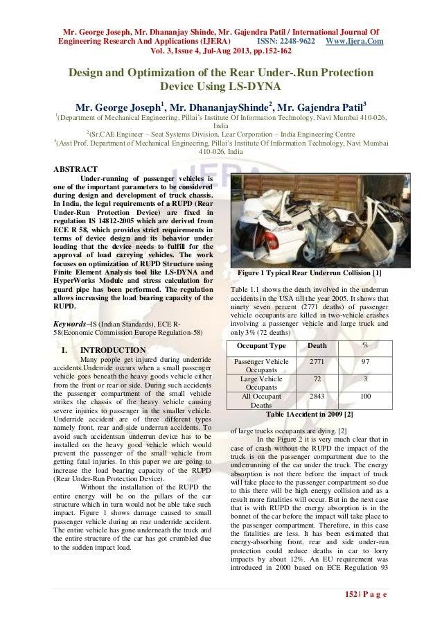 Mr. George Joseph, Mr. Dhananjay Shinde, Mr. Gajendra Patil / International Journal Of Engineering Research And Applicatio...