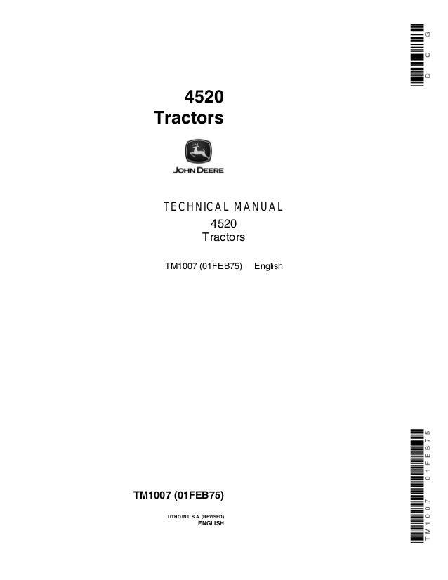 [DIAGRAM_38EU]  JOHN DEERE 4520 TRACTOR Service Repair Manual | John Deere 4520 Wiring Diagram |  | SlideShare