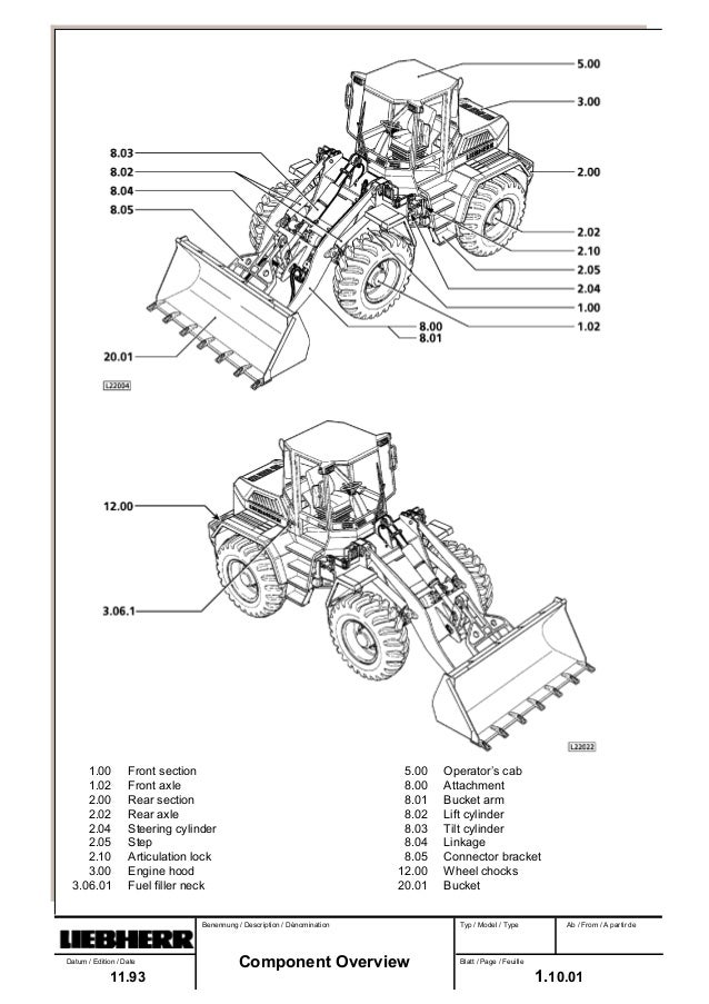 Liebherr L522-422 Wheel Loader Service Repair Manual SN:0101