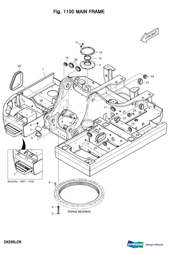 DAEWOO DOOSAN DX235LCR CRAWLER EXCAVATOR Service Repair Manual
