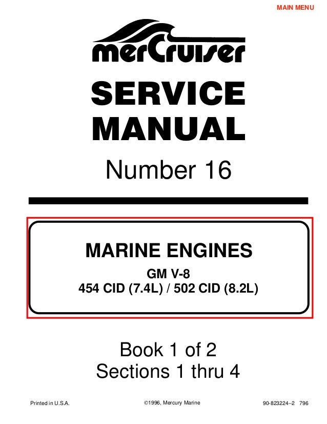 mercury mercruiser marine engines gm v8 454 cid (7.4l) & 502 cid (8.2…  slideshare