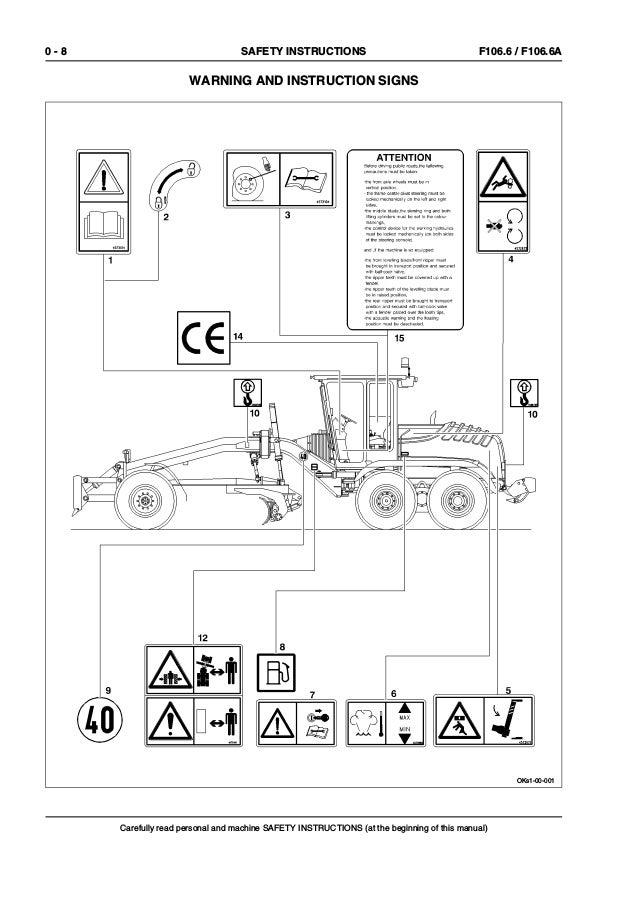 New Holland F106 6 Grader Service Repair Manual