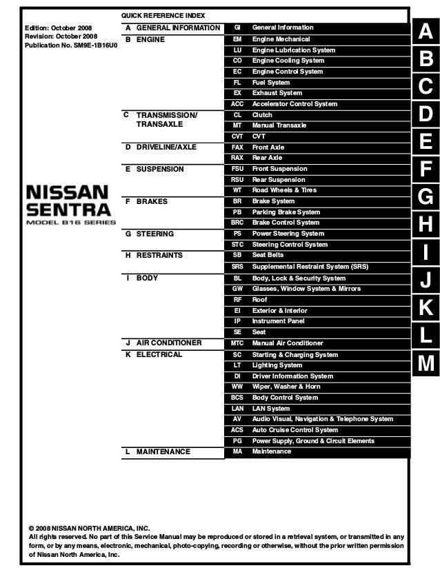 2009 nissan sentra service repair manual  slideshare