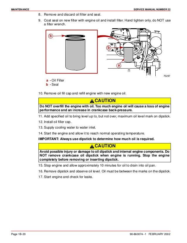 MERCURY MERCRUISER MARINE ENGINE IN-LINE DIESEL D4 2L D