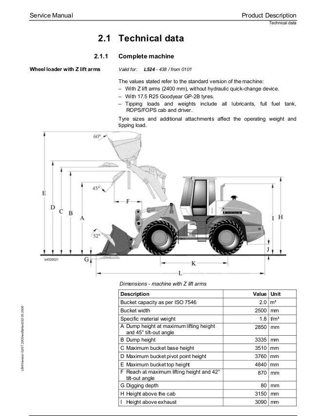 Liebherr L538-432 Wheel Loader Service Repair Manual SN:0101