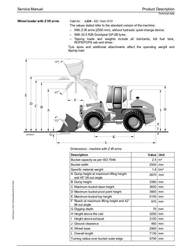 Liebherr L538-432 Wheel Loader Service Repair Manual SN:0101