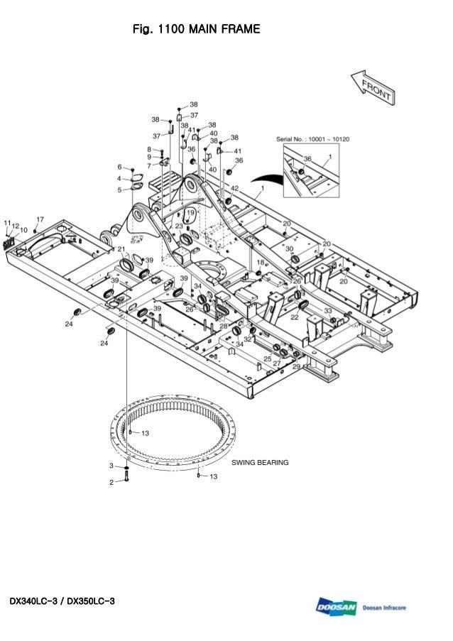 DAEWOO DOOSAN DX340LC-3 DX350LC-3 CRAWLER EXCAVATOR