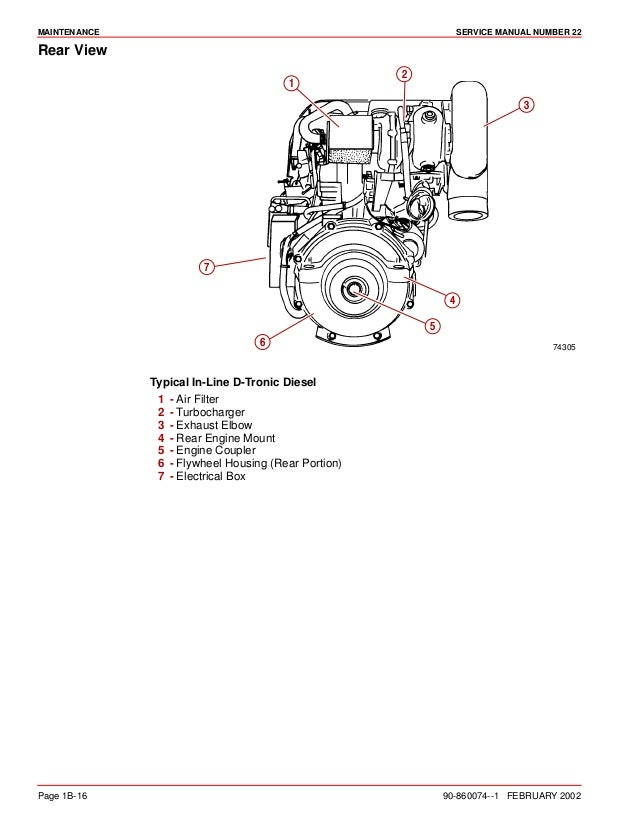 MERCURY MERCRUISER MARINE ENGINE IN-LINE DIESEL D4.2L D