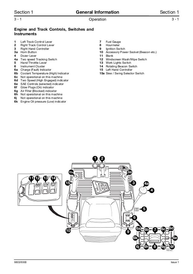 JCB 8032Z MINI EXCAVATOR Service Repair Manual SN899000