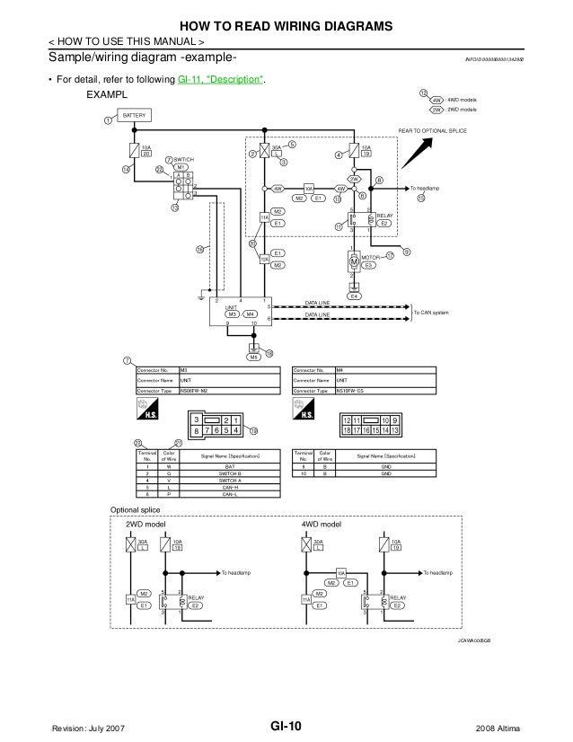 nissan altima wiring schematic 08 nissan altima wiring diagram e1 wiring diagram  08 nissan altima wiring diagram e1