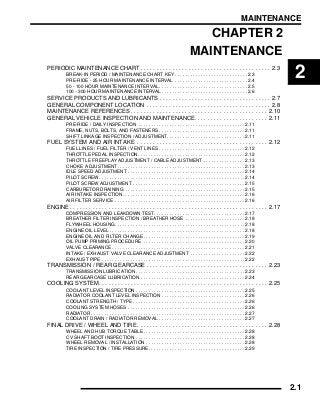 2009 Polaris Ranger 2X4 500 Carb Service Repair Manual