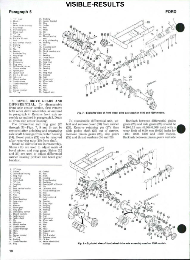 Ford 1200 Tractor Service Repair Manual