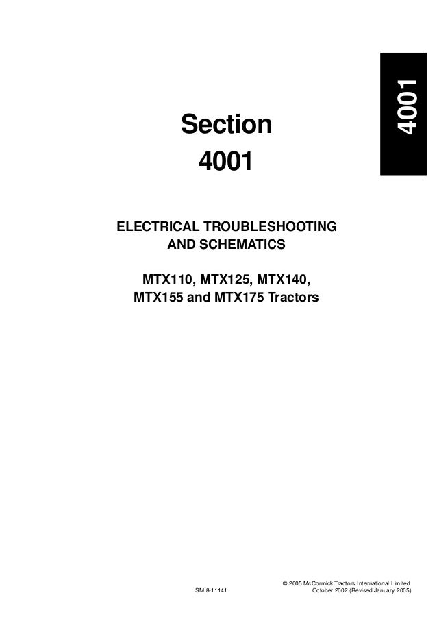McCormick MTX155 Tractor Service Repair Manual