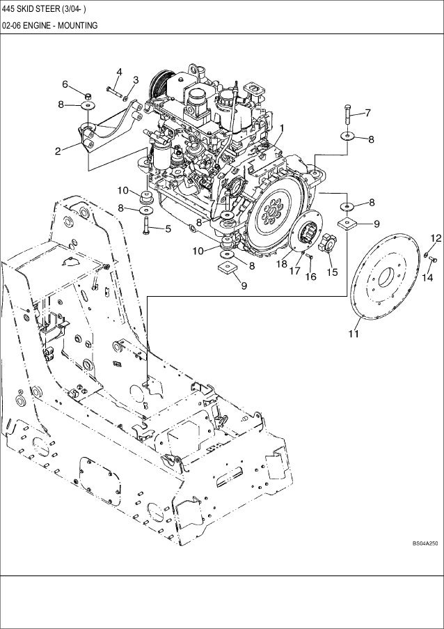 CASE 445 Skid Steer Loader Service Repair Manual