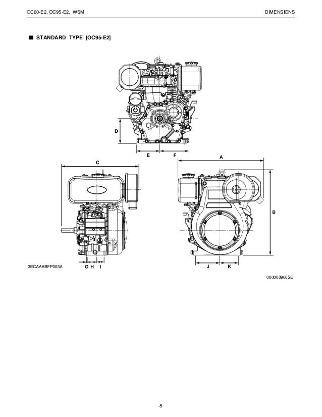 KUBOTA OC95-E2 (-X) DIESEL ENGINE Service Repair Manual
