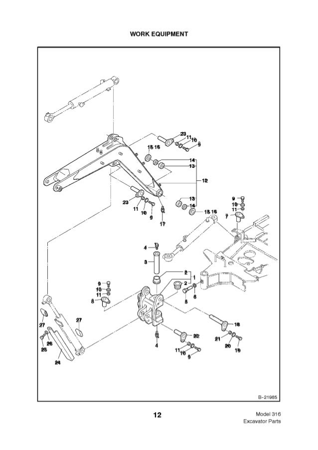 Bobcat 316 Excavator Parts Catalogue Manual Sn 522911001 Above