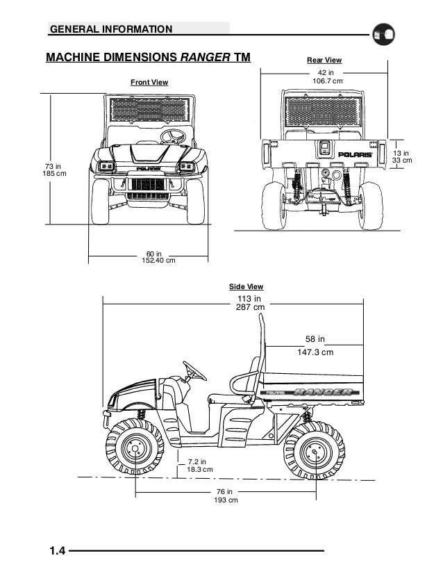 2004 Polaris Ranger 425 2x4 Service Repair Manual