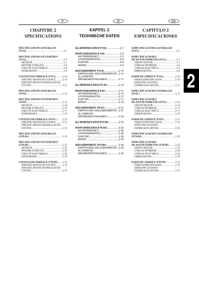 YAMAHA FT9.9DE OUTBOARD Service Repair Manual X: 700101-