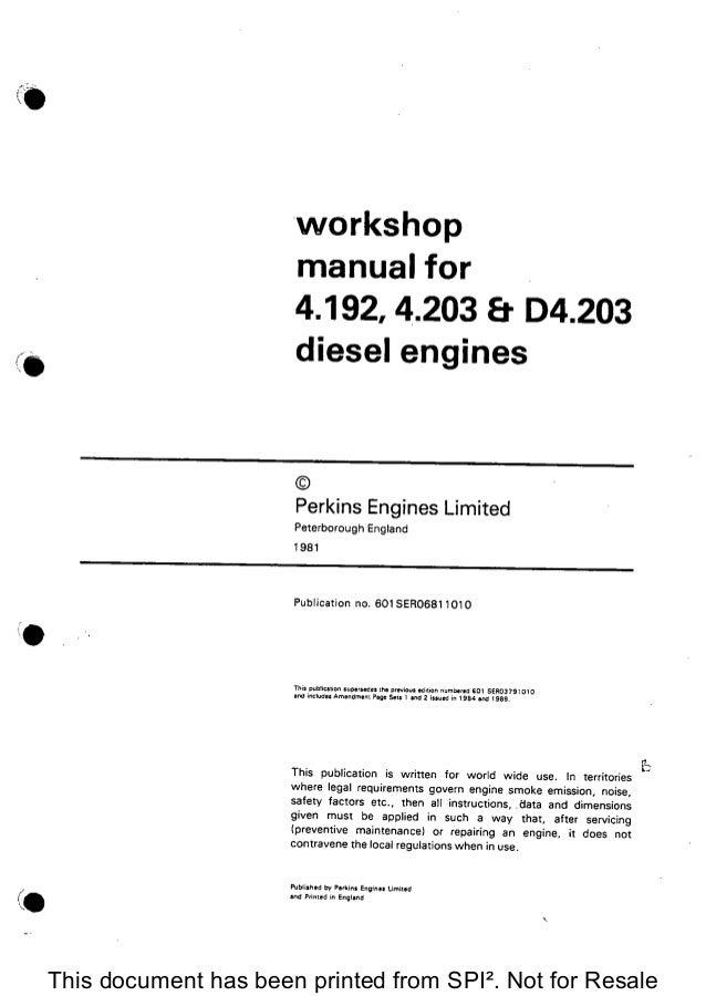 Perkins 1006tag Shpo Manual