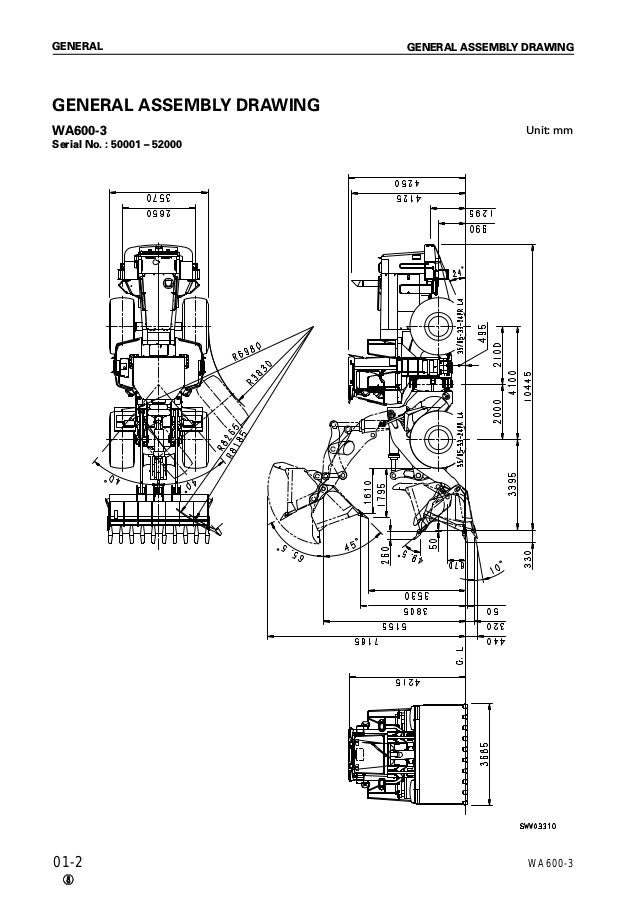 Komatsu WA600-3 Wheel Loader Service Repair Manual SN