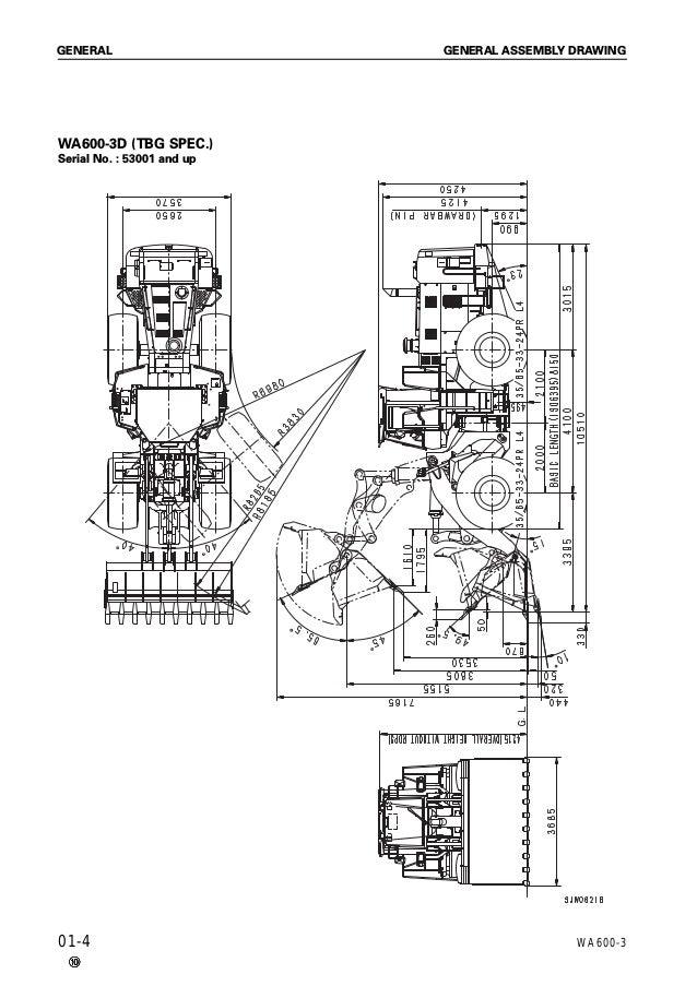 Komatsu WA600-3 Wheel Loader Service Repair Manual SN