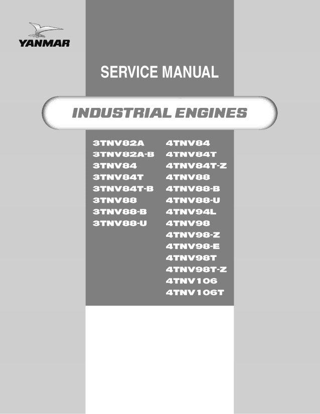 YANMAR 4TNV106T INDUSTRIAL ENGINE Service Repair Manual