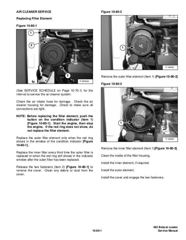 BOBCAT 463 SKID STEER LOADER Service Repair Manual S/N