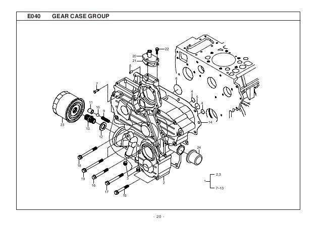 Kioti Daedong CK25H Tractor Parts Catalogue Manual