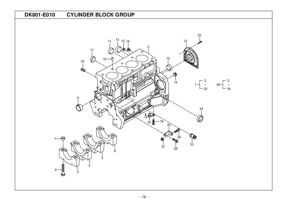 Kioti Daedong DK901 Tractor Parts Catalogue Manual