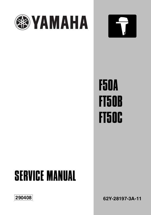 yamaha f50aet outboard service repair manual l 421626 rh slideshare net 2003 Yamaha 650 V Star Service Manuals Yamaha Service Manual for Model CR-820