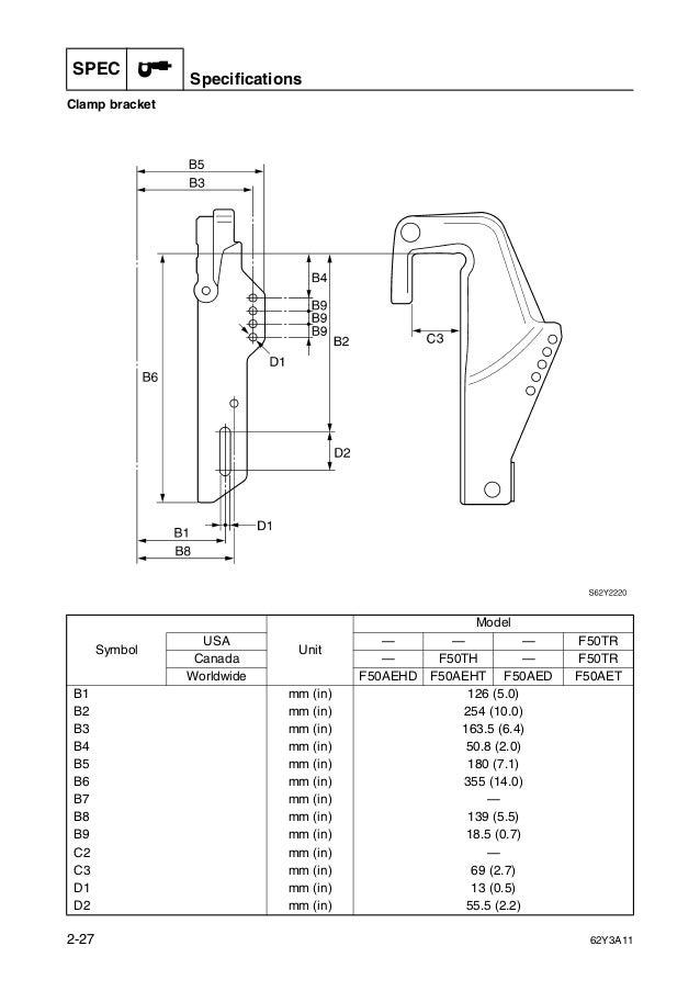 YAMAHA F50AEHT OUTBOARD Service Repair Manual X: 750469-