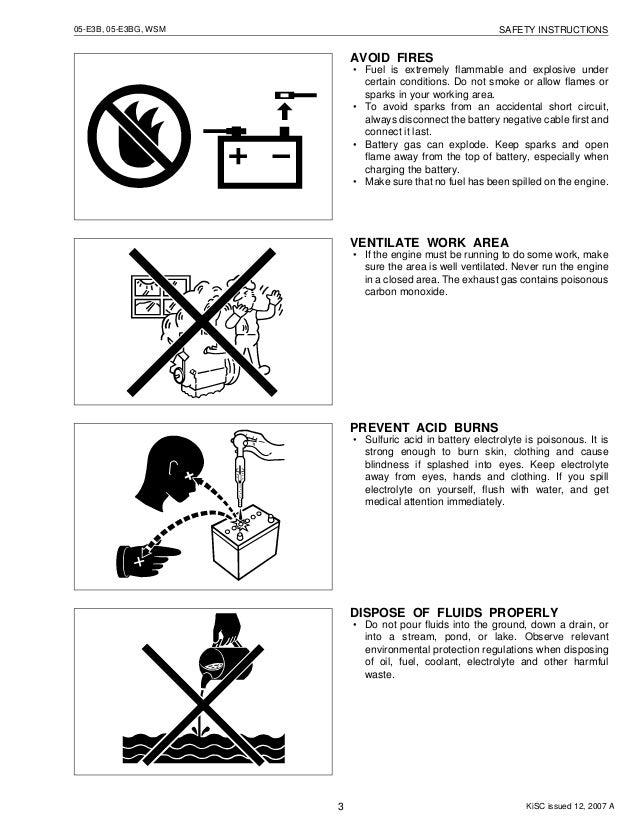 KUBOTA D1005-E3B DIESEL ENGINE Service Repair Manual
