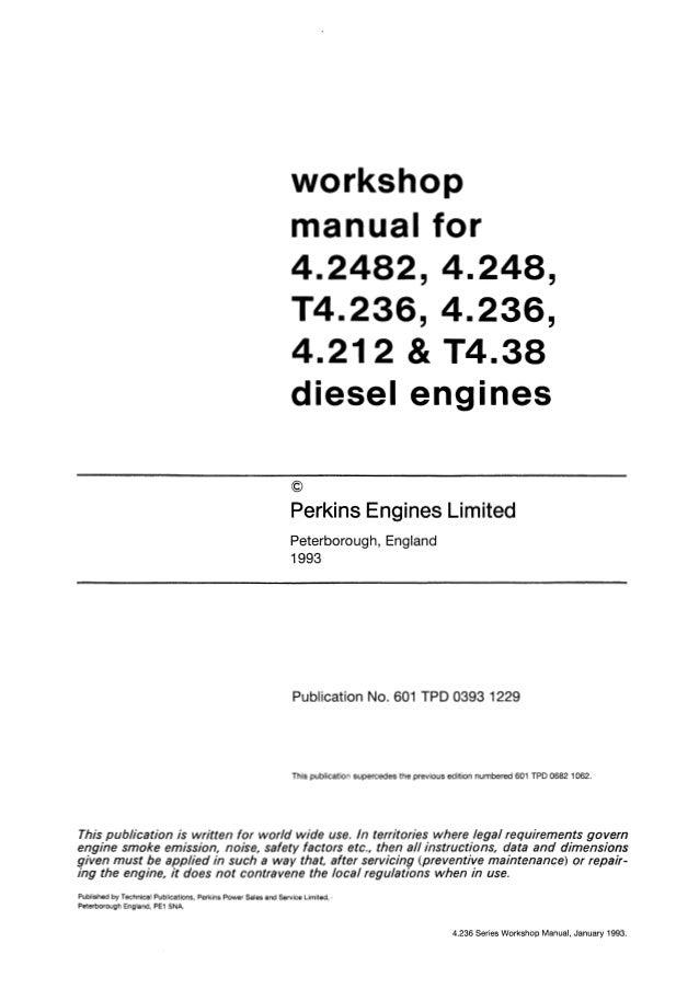 perkins 4 236 diesel engine service repair manual rh pt slideshare net Workshop Manual Perkins Perkins 4 Cylinder Diesel Manuals