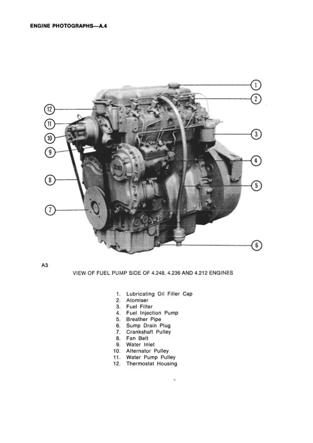 PERKINS 4.236 DIESEL ENGINE Service Repair Manual