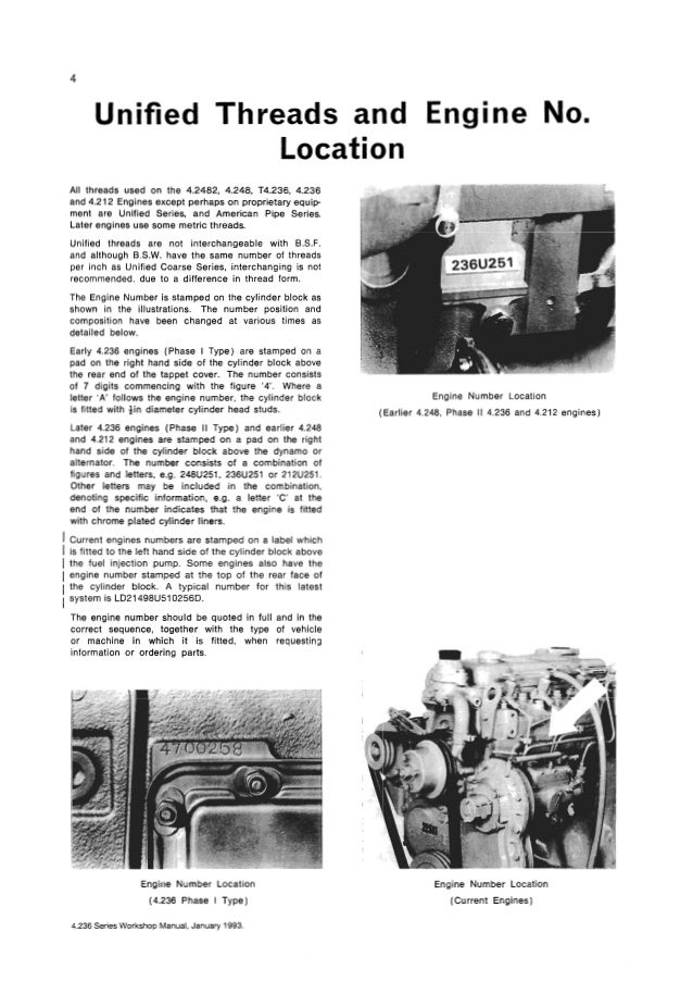 Perkins 4 236 Diesel Engine Service Repair Manual