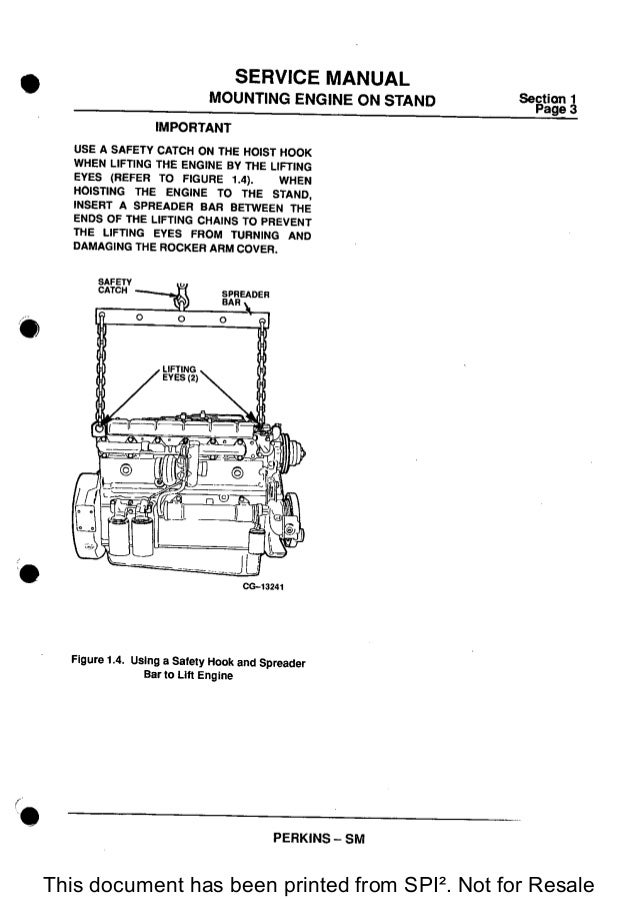 Spi Cam In Wc.Perkins 1300 Series Wc Diesel Engine Service Repair Manual