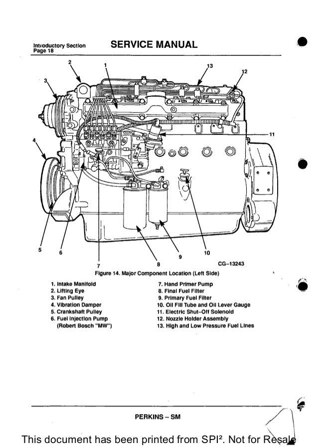 Perkins 1300 Series Wb Diesel Engine Service Repair Manual