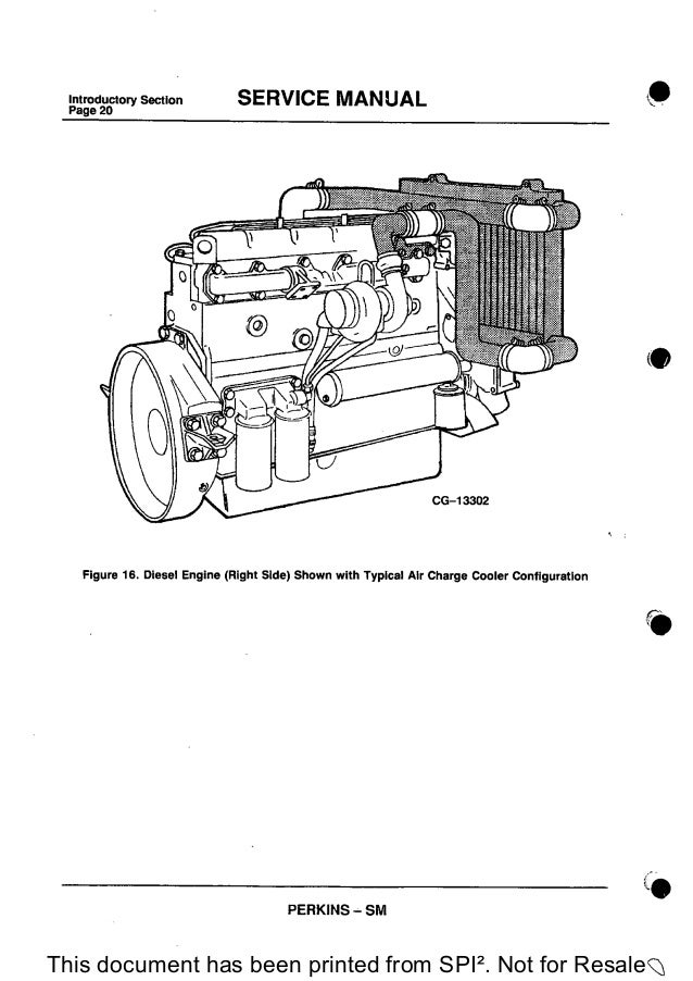 PERKINS 1300 SERIES WB DIESEL ENGINE Service Repair Manual