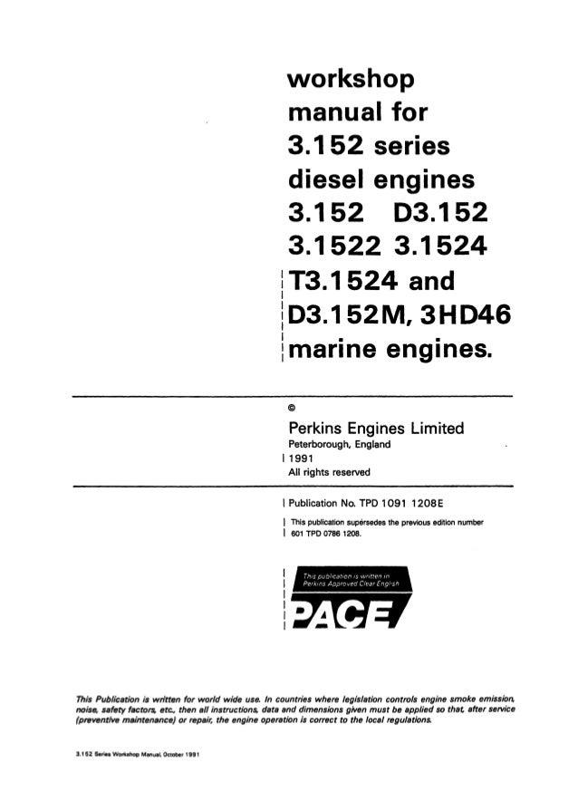 perkins 3 152 series d3 152m marine engine service repair manual rh slideshare net perkins d3 152 manual perkins ad3 152 engine manual