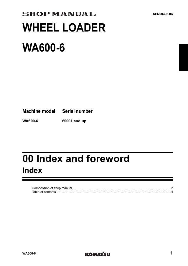 Komatsu Wa600