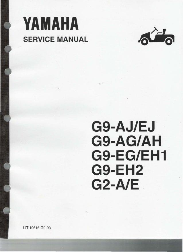 Yamaha G9 Ej Golf Cart Service Repair Manual
