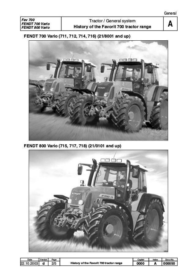 FENDT 714 VARIO TRACTOR Service Repair Manual